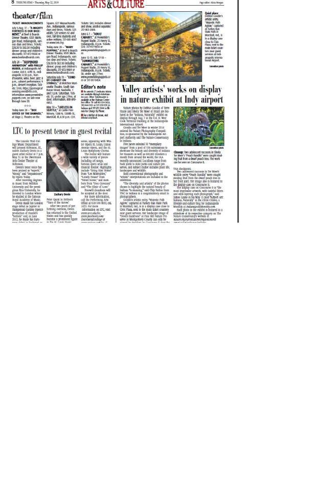 Tribune-Star Indiana Naturally article 5-22-14