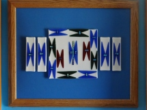 Fused Glass Wall Hanging by Edith Acton