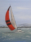 Sailing, oil painting by Judith Lynn Smith