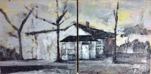 """Someone Lived Here,"" Encaustic on Panel, by Korinne Lee Cantin"