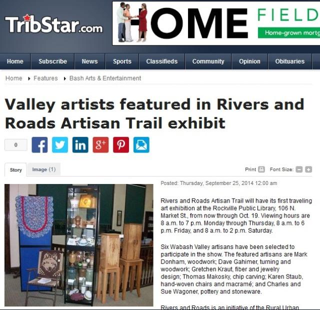 Dave Gahimer of rural Bridgeton one of ? artisans featured in exhibit.