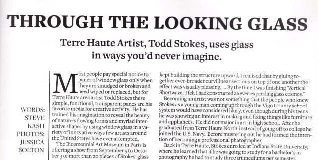 Stokes Magazine Article September 2014
