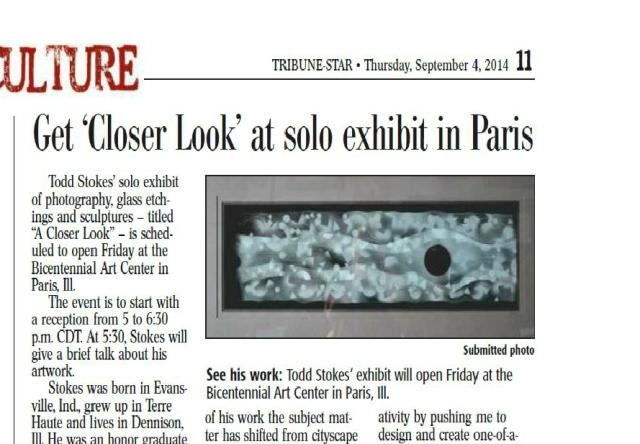 todd stokes solo exhibit