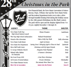 Christmas in the Park ad in Terre Haute Tribune-Star