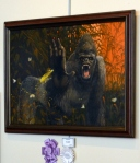 Doreen Follett People's Choice Award: Gorilla 2, Painting by Steve Harold; also Third Place in Painting