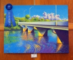 First Place, Painting: Kinetic Color Along the Wabash by Neil Garrison