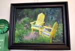 Honorable Mention, Painting: A Corner of the Garden by JoAnne Perigo Fiscus