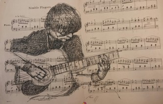 Nimble Fingers received a First Place in the Drawing category at the 2015 Wabash Valley Art Guild Juried Exhibition