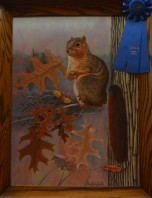 King of the Oak, First Place in Painting by Monty Jones