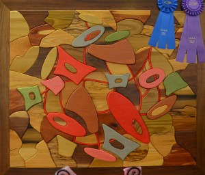 Best Of Show: Together Through Turmoil, wood inlay by Deborah Anderson