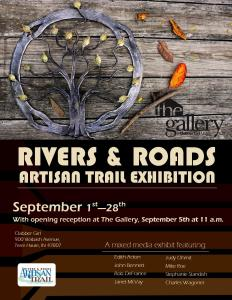 Rivers and Roads Flyer for September 2015 Exhibit