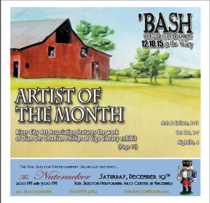 Dian Phillips artwork on Tribune-Star 'BASH cover Dec. 10, 2015