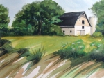 Buttermilk Barn watercolor on paper Dian D. Phillips