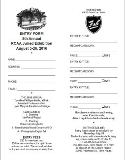 8th Annual Juried Exhibition Entry Form