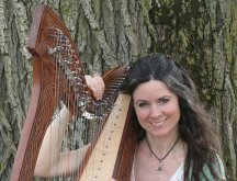 Harpist Amy Auset Rohn of Boone County, Indiana
