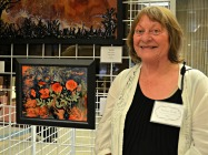 First Place Painting: Poppy Fusion by Ruthann Brady