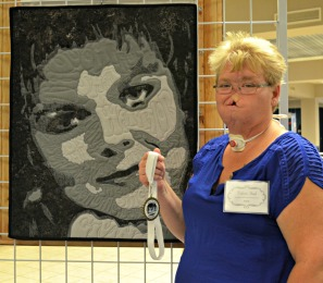 Third Place Mixed Media: Someone I Once Knew, Self Portrait of an Artist by Valerie Funk