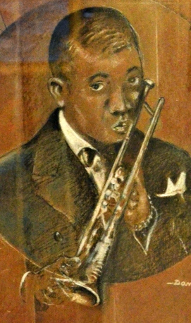 First Place Drawing: Detailed close-up of The Legend of Satchmo by Don Turner