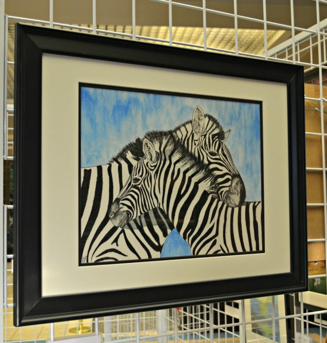 Honorable Mention Drawing: Zebra X2 by Kathy Matlock