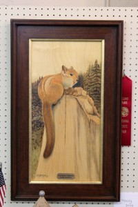Luke's Chipmunk by Monty Jones, Second Place at Indiana State Fair