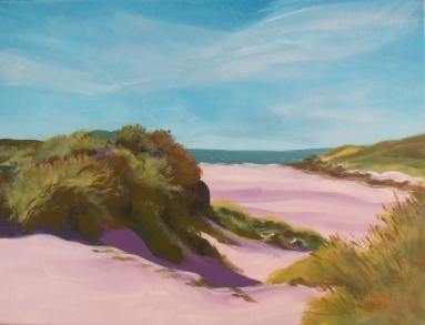 Acrylic painting-The Dunes by Dian Der Ohanian Phillips