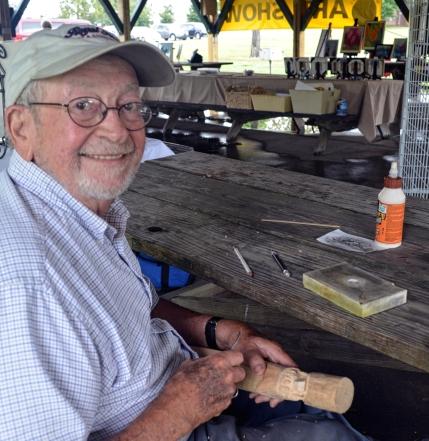 Wood carver John David Hemminghouse