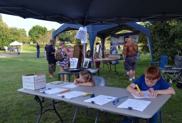 RCAA provides free art activities at Indiana Bicentennial Torch Relay celebration