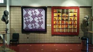 Quilts by Valerie Funk in Community Theatre of Terre Haute