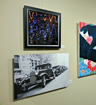 Angry Peacock (top, left) in 2nd Annual Juried Exhibition in Arts Illiana Gallery