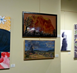 Sunset (top, center) by Edith Acton of Terre Haute