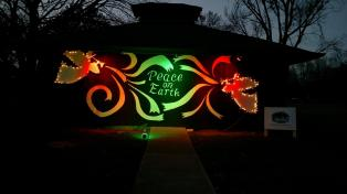 Peace on Earth display in Deming Park