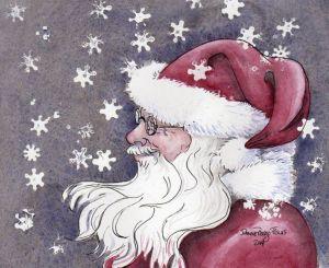 Santa art by JoAnne Perigo Fiscus