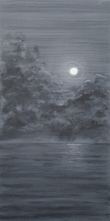 "Oil on canvas, ""Moonscape,"" by Judith Lynn Smith of Waveland, Indiana"