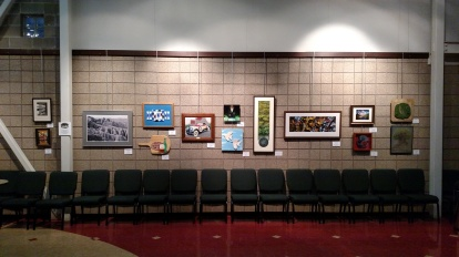 14 pieces by 8 RCAA artists in Community Theatre of Terre Haute
