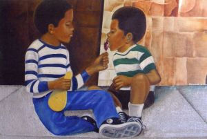 """""""Brother's Keeper"""" a print of an original oil painting by Don Turner"""
